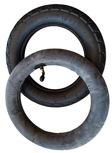 Reifen und Schlauch mit Winkelventil 10x2 passend zu Joie Litetrax, Mytrax