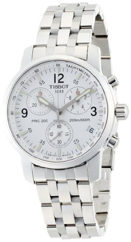 Tissot T-Sport PRC200 Chronograph White Dial T17158632 Watch: Watches
