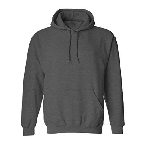 NZBZ - Sudadera con capucha de lana de mezcla gruesa para hombre, de manga larga, de algodón, forro polar casual para hombre