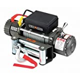 9000 lb. Electric Winch with Automatic Brake, Three-stage Planetary Gear System and Remote Switch (12 feet lead)