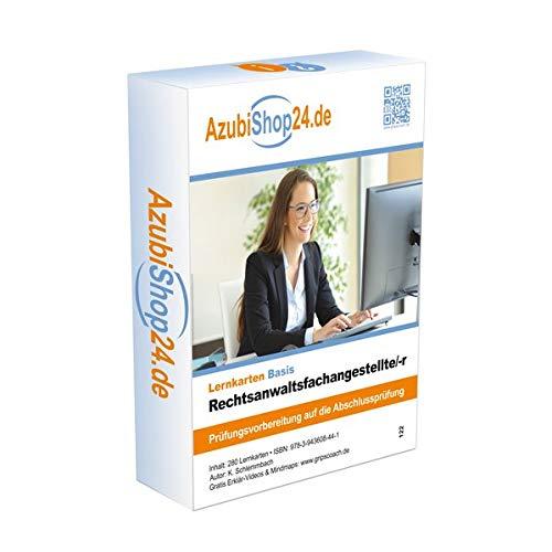 AzubiShop24.de Basis-Lernkarten Rechtsanwaltsfachangestellte/-r: Prüfungsvorbereitung auf die Abschlussprüfung
