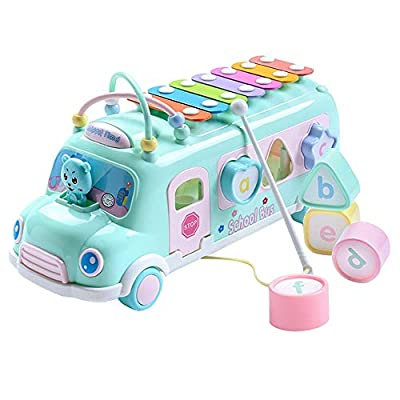 Amazon - Save 80%: Kids Musical Instruments Bus Vehicle Toy, Cute Hand Knock Piano Pull Musical I…
