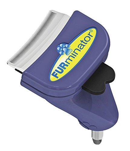FURminator FURflex, Fellpflegebürste für kleine Hunde, deShedding-Aufsatz zur Entfernung der Unterwolle, Größe S