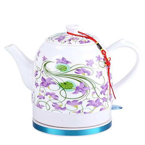 DD-SS-Ceramic electric kettle Hervidor eléctrico de cerámica China Vintage Azul y Blanco...