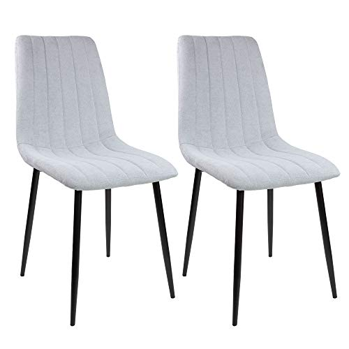 Albatros Esszimmerstühle GARDA, 2-er Set, grau, SGS geprüft