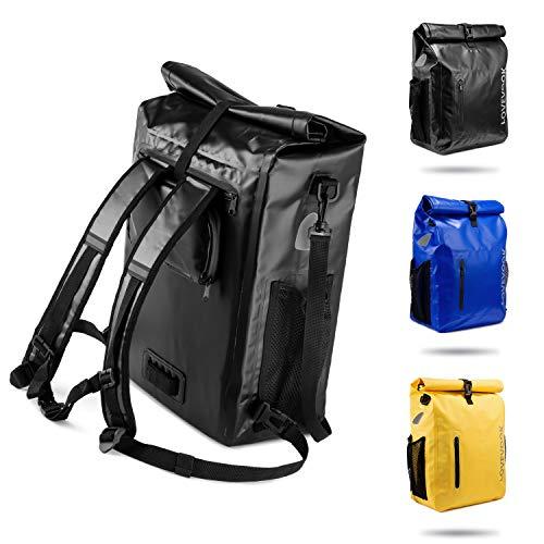 LOVEVOOK 3 in 1 Fahrradtasche für Gepäckträger, 100{1a373024d9d4afce7bc494cdd98ab03ce9cd9d83bf73cfc641e1e1e18c3d9bc7} Wasserdicht Reflektierend Fahrradrucksack Gepäckträgertasche Umhängetasche, für Radsport mit Abnehmbare Laptopfach, für Herren Damen Schwarz