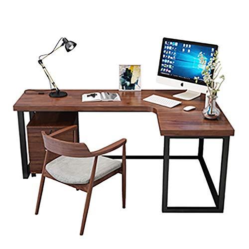 Escritorio de la Computadora Madera de escritorio de la computadora, en forma de l grande del ordenador portátil PC Corner Estudio Tabla de estaciones de trabajo Gaming Escritorio Mesa de Ordenador