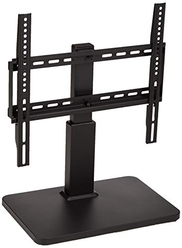 Amazon Basics Swivel Pedestal TV Mount for 32-65 inch TVs up to 55 lbs, max VISA 400x400, height adjustable to 14 - 19 inches