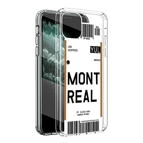 Pnakqil para Xiaomi Redmi Note 9 Funda Transparente 6,53 Pulgadas,Carcasa Anti-Choques y Anti-Arañazos TPU Parachoque Silicona Suave con Patrón Impreso para Xiaomi Redmi Note9, Montreal