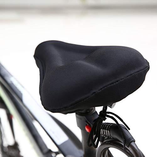 Bestcool Gel Sillin Bicicleta, Sillín Bicicleta Montaña Antideslizante Funda Sillin Bicicleta Estatica Espuma de Memoria Sillin Bici Cubre Sillin Bicicleta Gel para Hombres Mujeres
