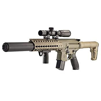 Sig Sauer MCX .177 Cal Co2 Powered  30 Rounds  14x 24mm Scope Air Rifle Flat Dark Earth  CO2 Not Included