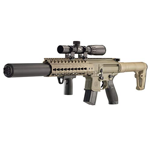 Sig Sauer MCX .177 Cal Co2 Powered (30 Rounds) 14x 24mm Scope Air Rifle, Flat Dark Earth (CO2 Not Included)