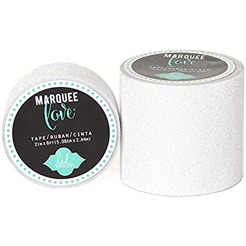 American Crafts Heidi Swapp 10268595 sjabloon voor feesttent Love Washi Tape 2 wit glitter, 8