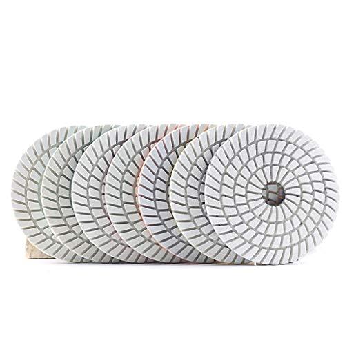 Jp 7 Unids / Set Almohadillas De Pulido De Diamantes De Diamante, Almohadillas De Pulido De Mármol Flexibles De Diseño Espiral, Disco De Lijado De Granito De Hormigón ( Grit : 200 , Size : 5 inches )