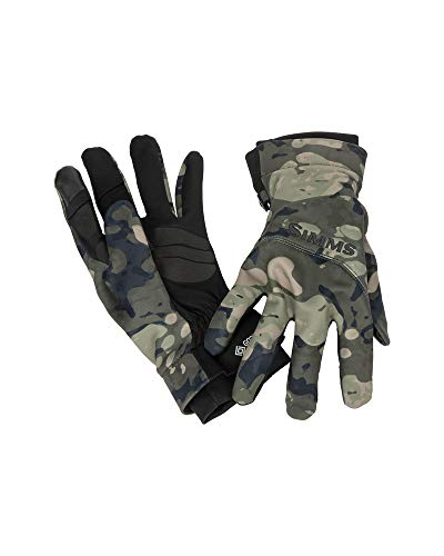 Simms Gore Infinium Flex Handschuh – Riparian Camo (klein)