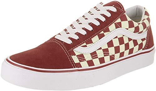 Vans Unisex Old Skool (Primary Check) Skate Shoe (5.5 Women/4 Men, Racing Red/White)