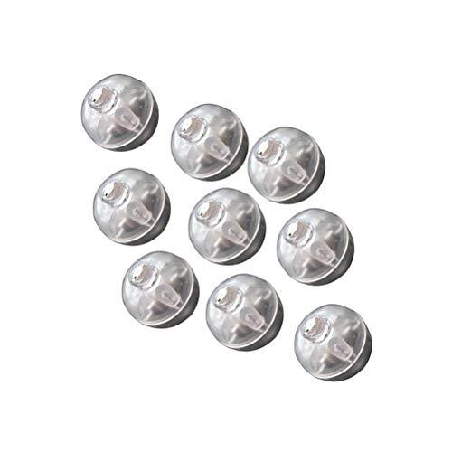 Uonlytech 100pcs LED Mini rotonda palla luce tumbler palloncino luci per lanterna di carta decorazione della festa nuziale (bianco + blu)