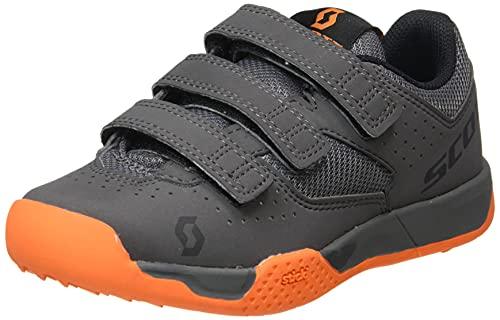 Scott MTB AR Kids Strap Sneaker, Grey Orange, 35 EU