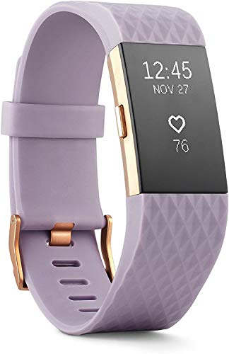 BEOTUA Charge 2 Superwatch Wireless Smart Activity and Fitness Tracker + Heart Rate and Sleep Monitor Smart Wristband(US Version) (Special Edition Lavender Rose Gold, Large (6.7-8.1 Inch))