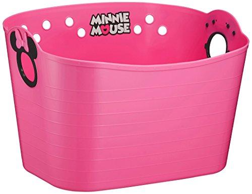 錦化成 収納ボックス ミニーマウス やわらかバケツ SQ16 チェリーピンク