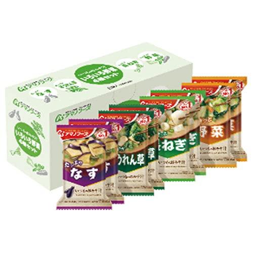 アマノフーズ フリーズドライ いつものおみそ汁 いろいろ野菜4種セットB 8食×3箱入
