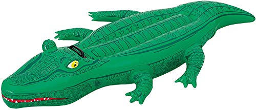 Schwimmtiere | Badetiere | Pool Tier | Wassertiere | Badeinsel Luftmatratze | Gummitiere für Pool | Wasserspielzeuge | Reittiere | aufblasbar | groß | Kinder ab 3 Jahre | Krokodil