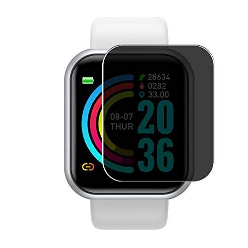 Vaxson TPU Pellicola Privacy, compatibile con Peakfun Y68 1.3' Smartwatch Smart watch, Screen Protector Film Filtro Privacy [ Non Vetro Temperato ]