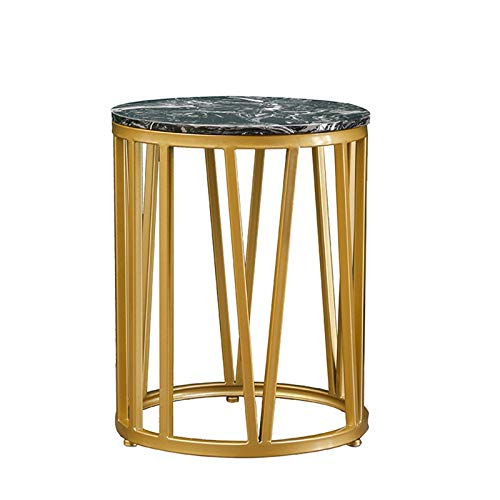 Living Room Furniture YAQ-Muebles de Oficina Mármol Mesa Redonda Lateral, Inicio de Metal Sofá Vector de la recepción Habitación Habitación Sala Consolas de Gran Área Mesa Auxiliar Mesas de Pedestal