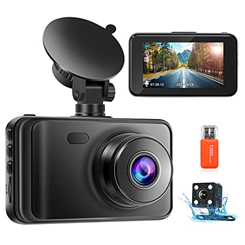 Upgraded Dash Cams Front and Rear Camera 1080P FHD Dual Dash Camera Dashcam...