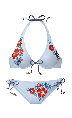 H.I.S Bügelbikini Badeanzug Bikini (38B, Blau)