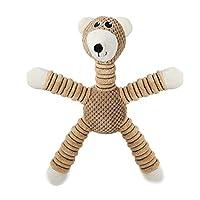 犬の咀嚼のおもちゃおもちゃ歯が生えるインタラクティブ丈夫なきしむ綿の犬のおもちゃの子犬効果的な歯のクリーニングのおもちゃのクマのスタイル