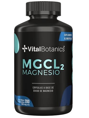 VitalBotanics Magnesio. Suplemento Natural para Dormir, Sueño y Relajación Mental. Formulado con Oxido de Magnesio 100% Natural - 200 capsulas – Para 6 Meses. Magnesium Oxide.