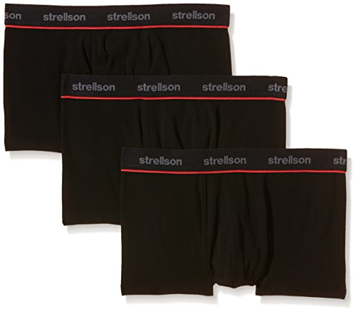 Strellson Bodywear Herren Shorts 3er Pack Retroshorts, Schwarz (super Black 129), Large