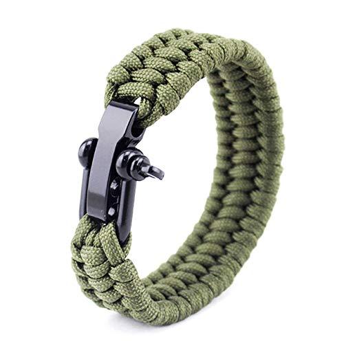 Ba30DEllylelly Für Paracord Umbrella Rope Bracelet Stahlschnalle Rope Paracord Bracelet Verstellbares Outdoor Survival Bracelet