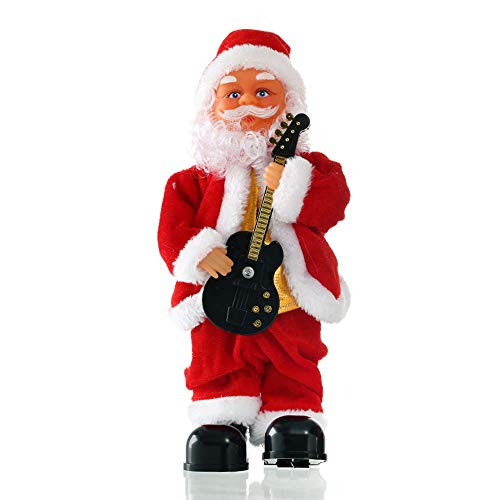 MIKLL Christmas Singing Santa Claus Toys Musical Battery Powered Electric Doll Gift Boys Girls Age 1-10 Xmas Decorations Without Battery