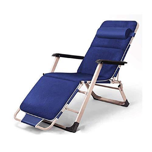WSDSX Silla reclinable Plegable Sillón de Ocio, sillón reclinable Plegable de Gravedad Cero para Viajes al Aire Libre, Playa, Camping, Silla de jardín, Almuerzo Interior, Descanso Lazy Obli