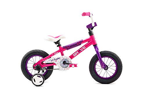 Brave Freestyle BMX Kids Bike for Boys and Girls, 12 inch with Training Wheels, in Multiple Colors (Pink) -  REVERE BICYCLES