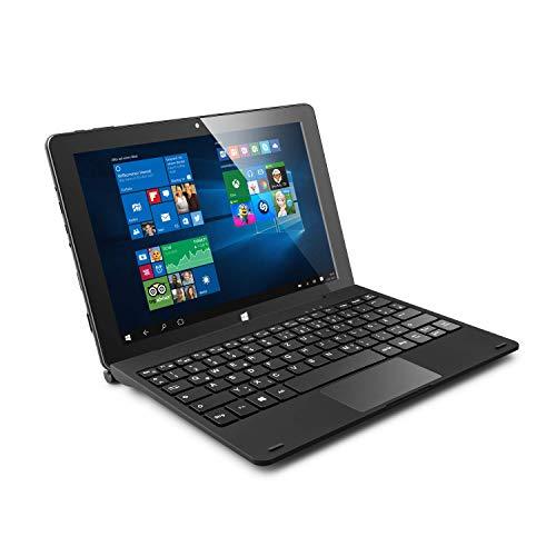CSL Panther Tab HD USB 3.1 inkl. Windows 10 Home - 10.1 Zoll (25,6 cm) Tablet, Intel QuadCore CPU 4X 2400 MHz Intel Burst Frequenz, 4GB DDR4-RAM, 64GB eMMC, Tastatur-Dock