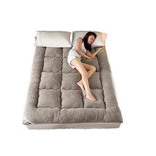 WT Single dubbele mat, dikke 10cm lamsvacht matras - dubbelzijdig beschikbaar warm tatami bed matras 150 * 200cm