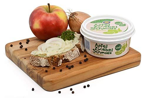 Vital-Schmalz 200g Becher Apfel/Zwiebel - Pflanzliches Fett mit Äpfel und Zwiebeln - Vegetarisches Schmalz - Geschenkidee WF-18017