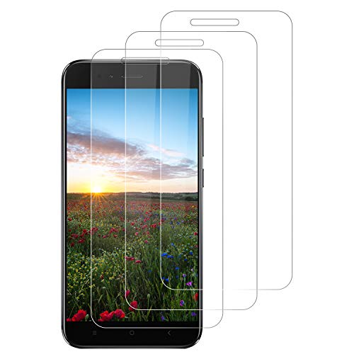 DOSNTO Protector de Pantalla para Xiaomi Mi A1/5X, 3-Pack Cristal Vidrio Templado Premium Mi A1/5X [Anti-Arañazos] [Sin Burbujas][Kit Fácil de Instalar][Dureza 9H] [Funda Compatible][Alta Definicion]
