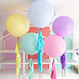 30pcs Pastel Balloons 18 inch Large Pastel Balloons Big Round Pastel Jumbo Latex Balloons for Birthday Wedding Baby Shower Event Decorations