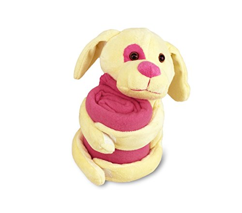184639 Peluche de perrito más manta polar para niños