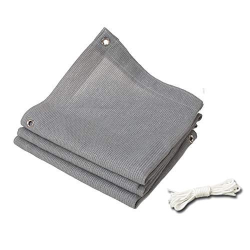 ANUO schaduw stof zonne-mesh 90% grijs schaduw doek met randen, schaduw net met touw voor tuin Patio Pergola veranda luifel of Gazebo, dekzeil