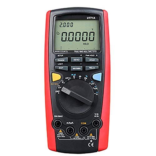Preisvergleich Produktbild W.Z.H.H.H Elektronischer Multimeter UT71A UT71B UT71C UT71D UT71E Intelligentes USB-Bluetooth-Multimeter mit Echt-Effektivwert-Überlastungsschutz Hintergrundbeleuchtung (Color : Rot,  Size : UT71A)