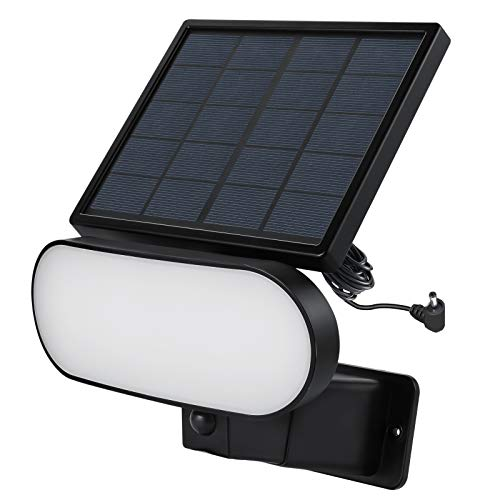 Wasserstein 2-in-1 Solar Panel Charger & Security Light Compatible with Ring Stick Up Cam Battery & Ring Spotlight Cam Battery, and Reolink Argus Pro (Black)