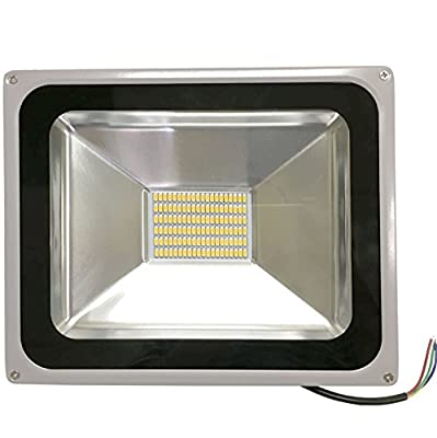 Isweet LED Flood Light, 30W (125W Equivalent), 2400 Lumen, Warm White, 3000K, Waterproof IP65, 95-285V