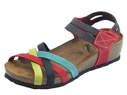 Sabatini, Damen Sandalen, Mehrfarbig - Mehrfarbig - Größe: 42 EU