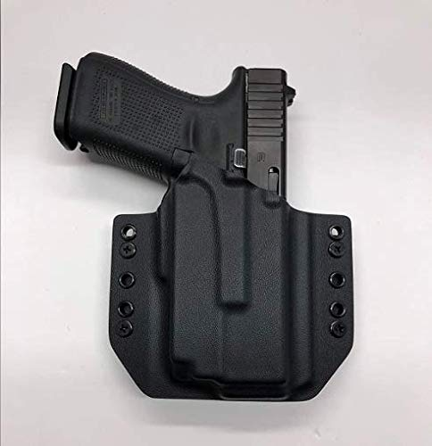 Black Kydex Holster Compatible with Glock 19 23 32 Olight PL-Mini