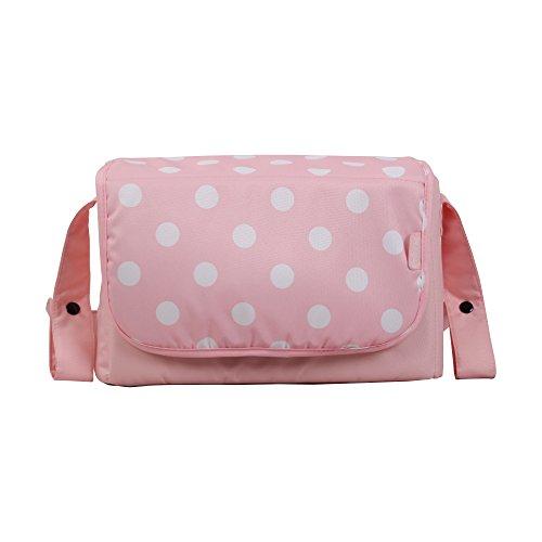 My Babiie Wickeltasche, gepunktet, Pink